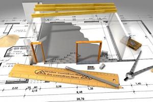 Image 3D d'un plan de construction immobilière. Article tout savoir sur la VEFA par Immo-pop