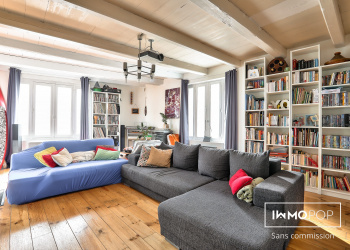 Charentaise du 19e MAISON et DEPENDANCE T2 sur 130 m² avec JARDIN arrière dans le Bourg d'Aytré