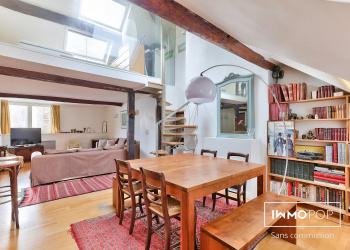 Appartement duplex Type F4 de 86 m² au sol (66 m² loi CARREZ) à Paris 5ème