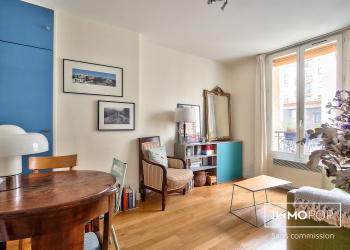 Appartement Type 2 de 31 m² + cave à Paris GAMBETTA