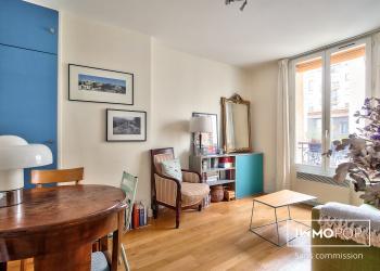 Appartement Type 2 de 31 m² + cave à Paris GAMBETTA