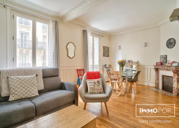 Appartement Type 3 de 52 m² + cave à Paris 14ème