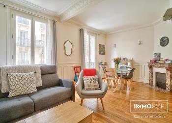 Appartement Type 3 de 52 m² + cave à Paris 14ème