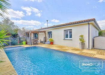 Maison plain pied Type 5 de 130 m² + piscine à Menville