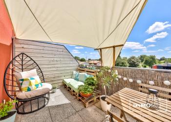 Appartement Type 2 de 29 m² (carrez) + Terrasse+ parking à Eysines