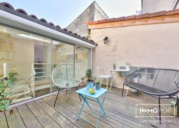 Appartement duplex Type 2  bis de 47 m² + terrasse au centre de Bordeaux