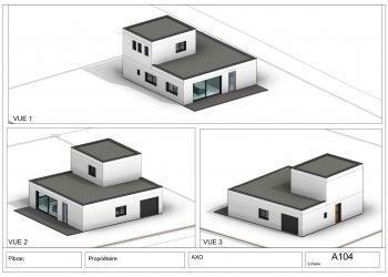 Maison R+1 neuve contemporaine 115 m² sur 500m² terrain