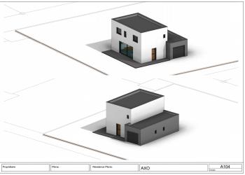 Maison R+1 neuve contemporaine 100 m² sur 500m² terrain