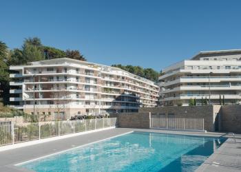 Appartement neuf Type 3 de 59 m² + piscine + crèche à Cannes La Bocca