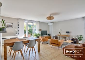Appartement T4, 92 m2, dans résidence calme et verdoyante, avec jardin de 130 m2 à St-Orens de Gameville