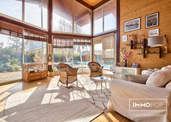 Maison d'architecte de 170  m² au sol + piscine à Lège-Cap-Ferret