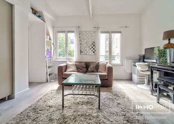 Appartement Type 1 bis de 30,5 m² + cave à Paris 18ème