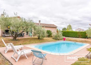 Maison plain pied Type 4 de 112 m² + piscine + garage à Cugnaux