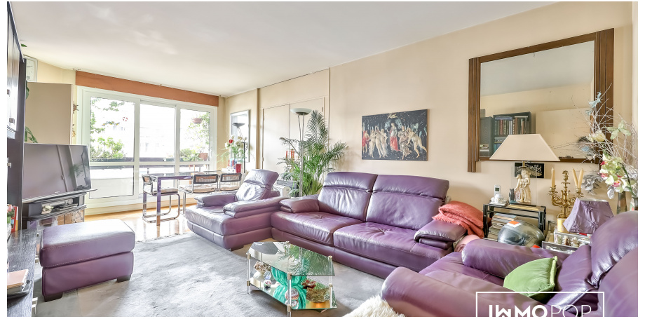 Appr 4 de 91 m² + cave + parking à Paris 20 ème