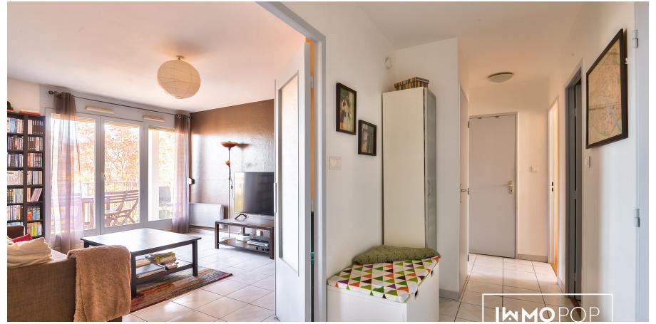 Appartement Type 3 bis de 80 m²+ parking + cave à Villeurbanne