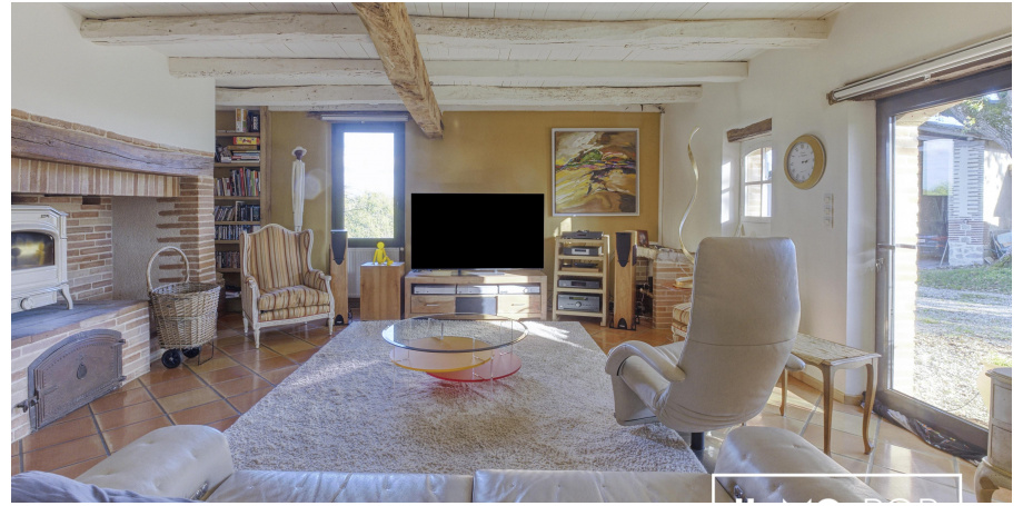 Maison Type 6/7  de 280 m² avec studio + piscine + garage à Montdurausse