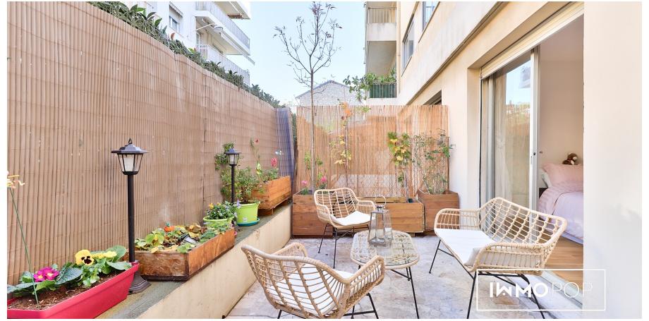 Appartement Type 2 bis de 45 m²+ box + cave à Nice