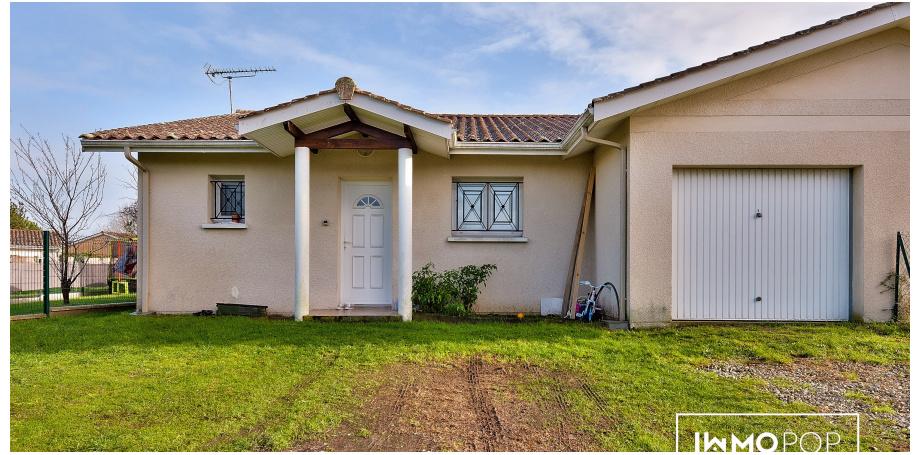 Maison plain pied Type 4 de 93 m² + garage à Peujard
