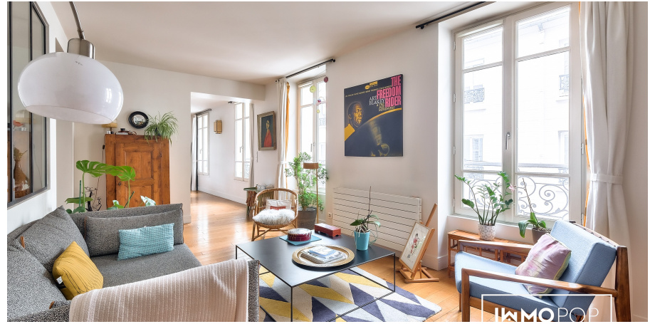 Appartement Type 5 de 109 m² + cave à Paris 17ème
