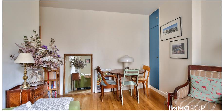 Appartement Type 2 de 31 m² + cave à Paris 20ème