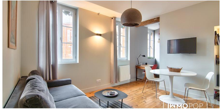 Appartement meublé Type 2 de 34 m² au coeur de Toulouse