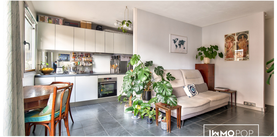Appartement Type 2 de 48 m² + cave Paris 11ème