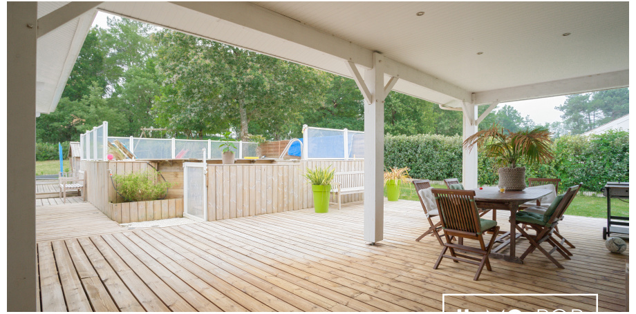 Maison plain pied Type 6 de 155 m² + piscine + garage à Saint Laurent Médoc