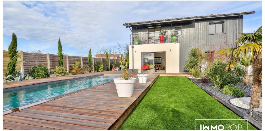 Maison d'architecte Type 5 de 120 ² + piscine + garage à La Teste-de-Buch