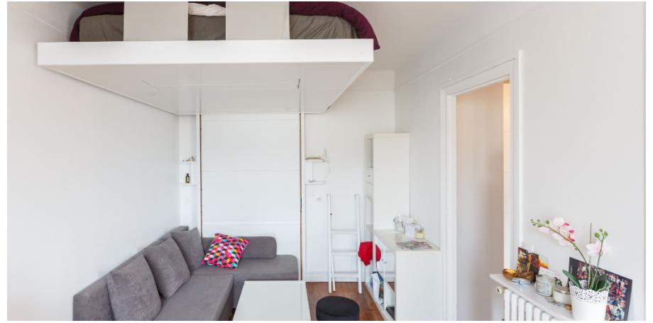 Appartement Type 1 de 29 m² + cave à Paris 17 ème