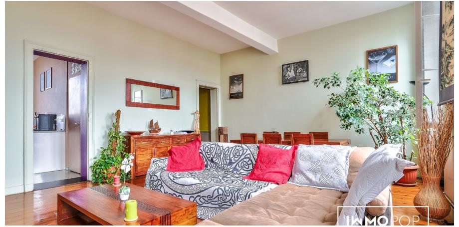 Appartement duplex type 3 de 100 m² au sol à Bordeaux