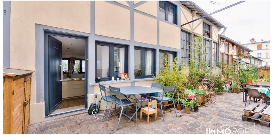 Appartement Type 4 de 66 m² (au sol) + 2 extérieurs à Paris 10 ème
