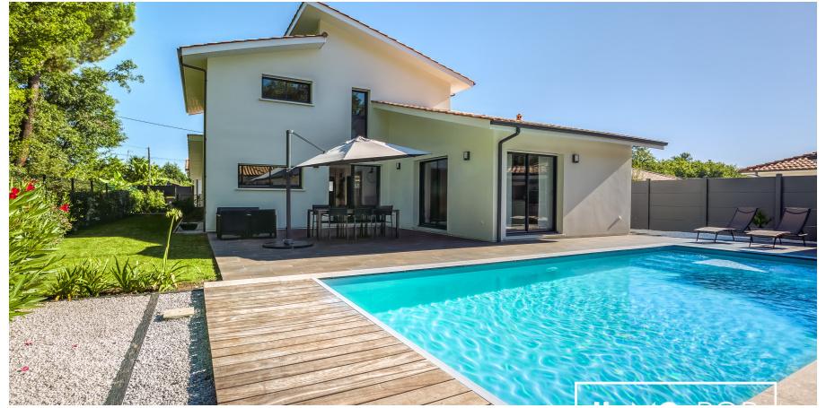 Maison Type 6 de 151 m² + piscine + garage - Le Teich