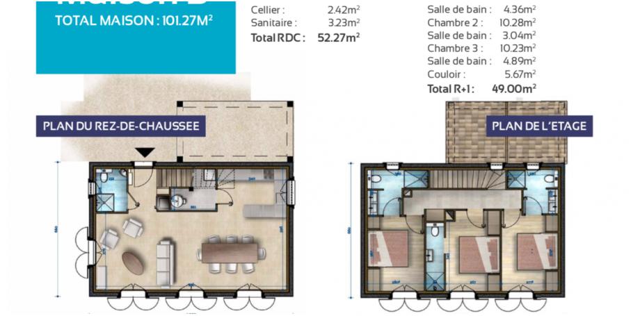Maison B 102m2 à Salernes.