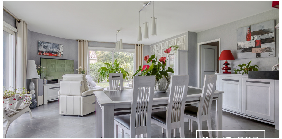 Maison plain pied Type 5 de 125 m² + garage à Coutras