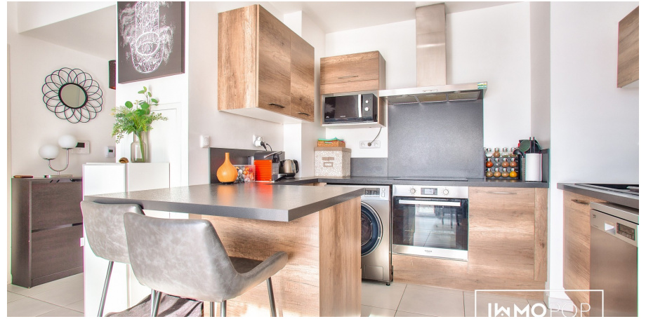 Appartement Type 2 de 38 m² + parking à Marseille