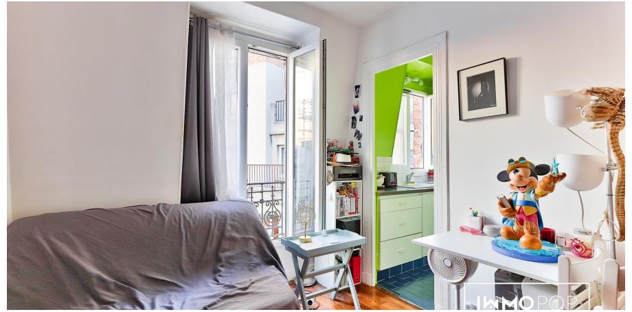 Appartement Type 1 de 16 m² à Paris 12ème